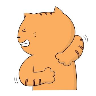 Vetor de gato coçar de volta