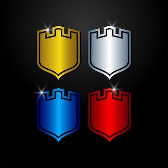 Vetor de guarda de escudo