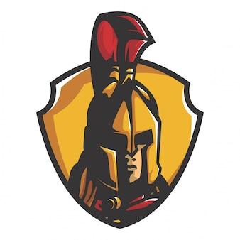 Vetor de guerreiro espartano