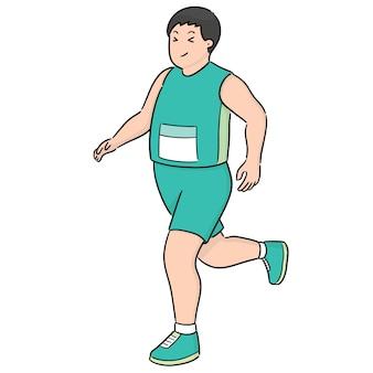 Vetor de homem correndo