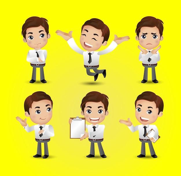 Vetor de homens com poses diferentes