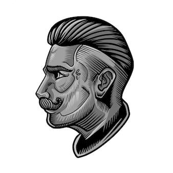 Vetor de homens de barbeiro