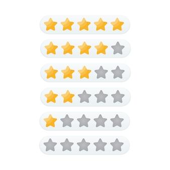 Vetor de ícone de classificação 5 estrelas
