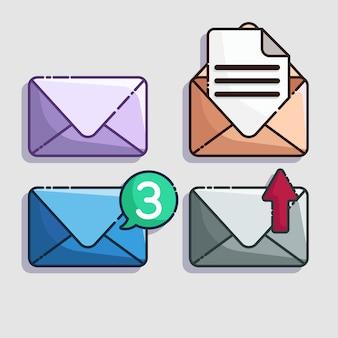 Vetor de ícone de correio