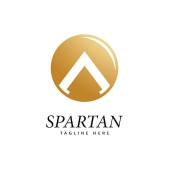 Vetor de ícone de logotipo de escudo espartano