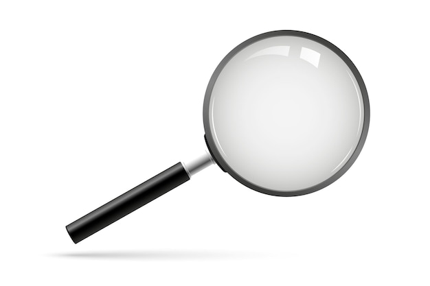 Vetor de ícone de pesquisa. lupa com fundo transparente. lupa, grande instrumento de ferramenta. pesquisa de lupa com lupa. símbolo de análise de negócios
