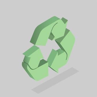 Vetor de ícone de reciclagem