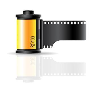 Vetor de ícone de sinal de rolo de filme de câmera