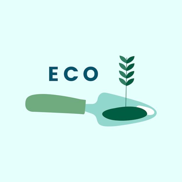 Vetor de ícone eco agricultura amigável