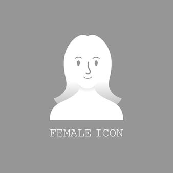 Vetor de ícone feminino do usuário