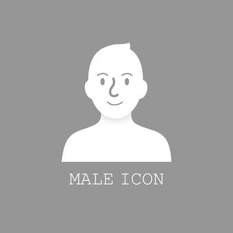 Vetor de ícone masculino do usuário