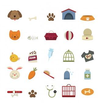 Vetor de ícones de cão