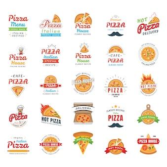 Vetor de ícones de pizza