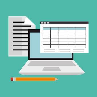 Vetor de ícones plana on-line de educação