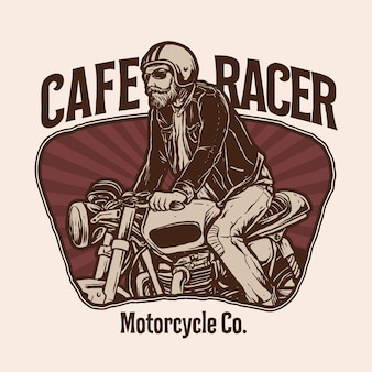 Vetor de ilustração clássica de motocicleta personalizada