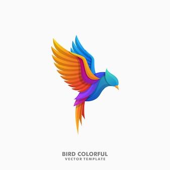 Vetor de ilustração colorida de pássaro