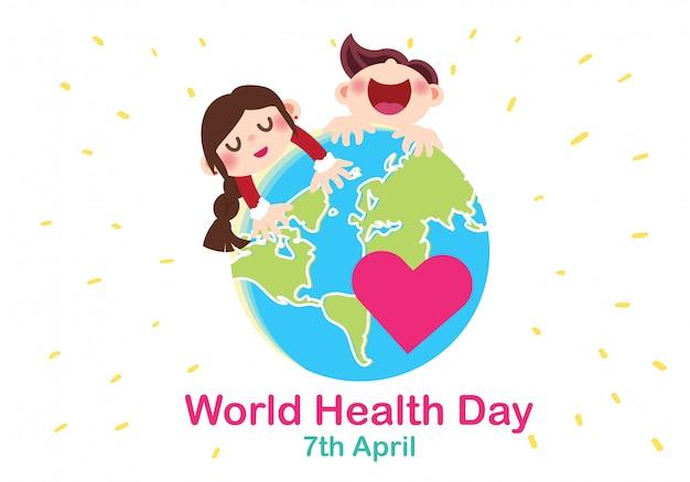 Vetor de ilustração conceitual do dia mundial da saúde