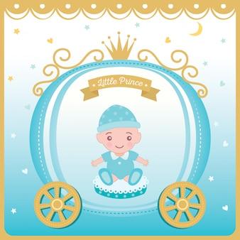 Vetor de ilustração de cartão de saudação de chuveiro de bebê