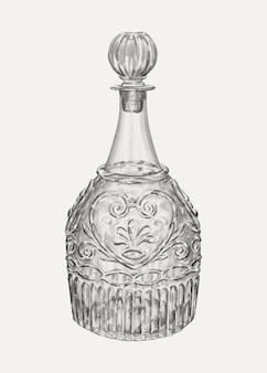 Vetor de ilustração de decantador vintage, remixado da arte de john dana