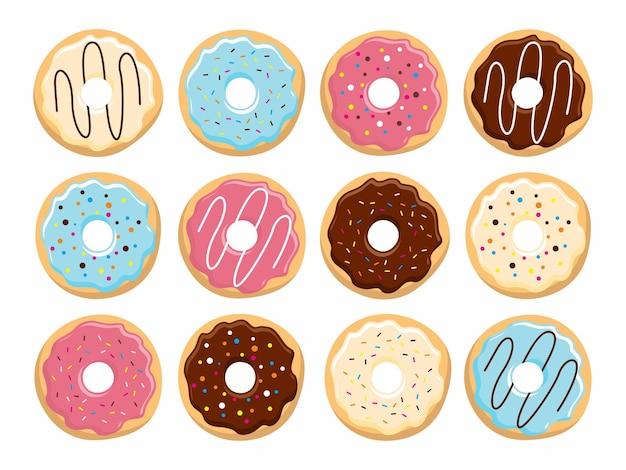 Vetor de ilustração de donuts