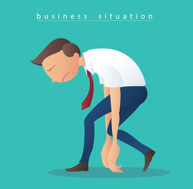 Vetor de ilustração de empresários de depressão
