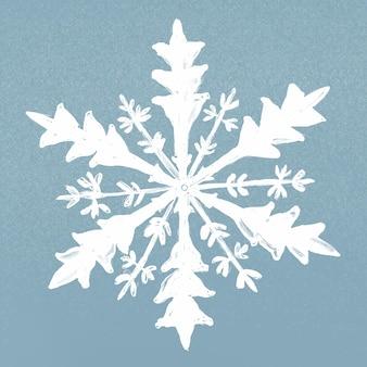 Vetor de ilustração de floco de neve de inverno em fundo azul