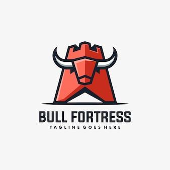 Vetor de ilustração de fortaleza de touro