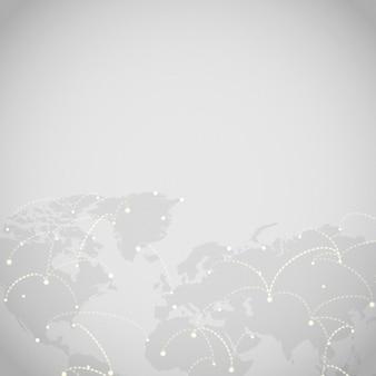 Vetor de ilustração de fundo cinza de conexão em todo o mundo Vetor grátis