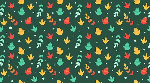Vetor de ilustração de fundo de folhas de outono