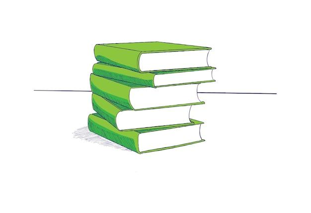 Vetor de ilustração de livro Vetor Premium