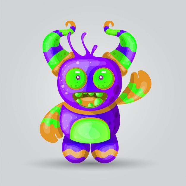 Vetor de ilustração de monstro para design de impressão