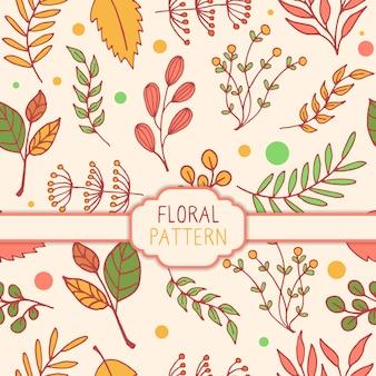 Vetor de ilustração de padrão floral sem costura primavera