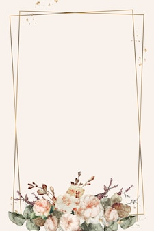 Vetor de ilustração de quadro floral vintage
