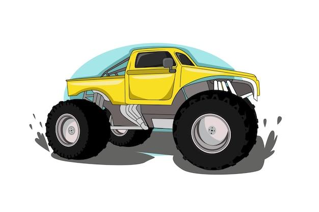 Vetor de ilustração de veículo de caminhão grande