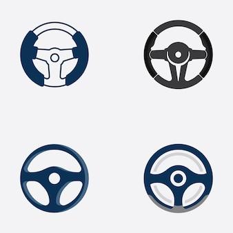 Vetor de ilustração do logotipo do volante do carro