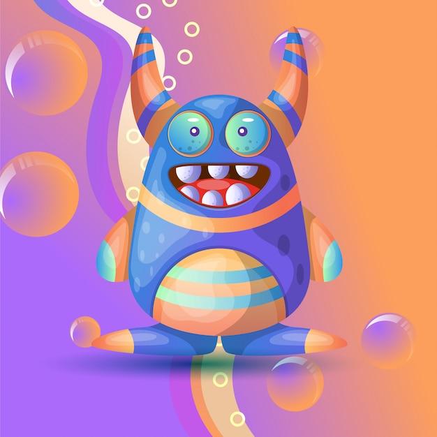 Vetor de ilustração doce monstro