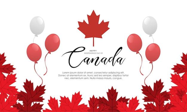 Vetor de ilustração realista do dia do canadá