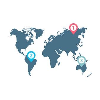Vetor de infográfico de distribuição de negócios do mundo
