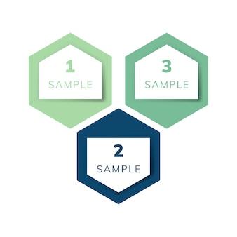 Vetor de infográfico de negócio de exemplo de carta