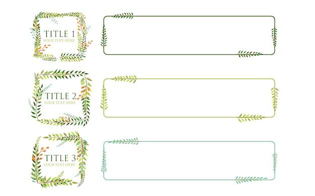 Vetor de infográfico de quadro de folhas com três títulos