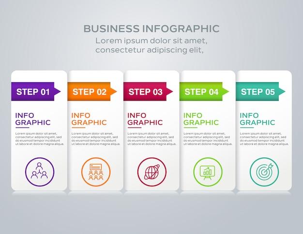 Vetor de infográficos de negócios
