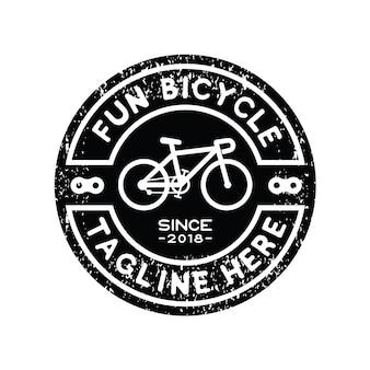 Vetor de inspiração de design de logotipo bicicleta hipster