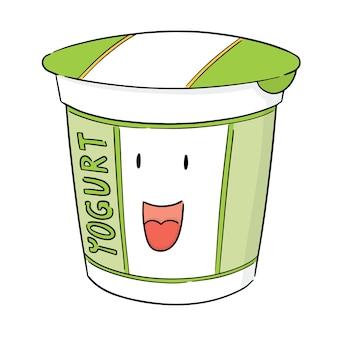 Vetor de iogurte
