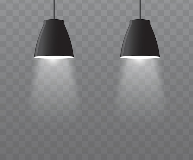 Vetor de lâmpadas do teto.