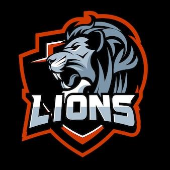 Vetor de leão bravo
