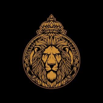 Vetor de leão rei