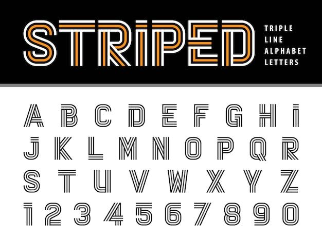 Vetor de letras do alfabeto moderno