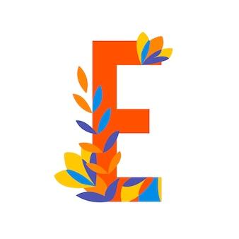 Vetor de letras estampadas florais