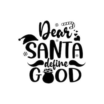 Vetor de letras svg de citações engraçadas de natal