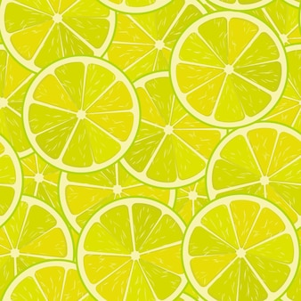Vetor de limão sem costura ou padrão de vetor de limão minimalista fundo de alimentos textura repetível de vitaminas